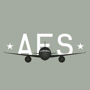 AFS logo, aviation logo avion, logo aviateur,