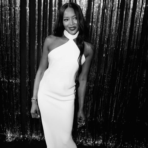 naomicampbell, nicolasgerardin, loreal, party, goldobsession, gold, makeup, maquillage, celebrity, chapu,